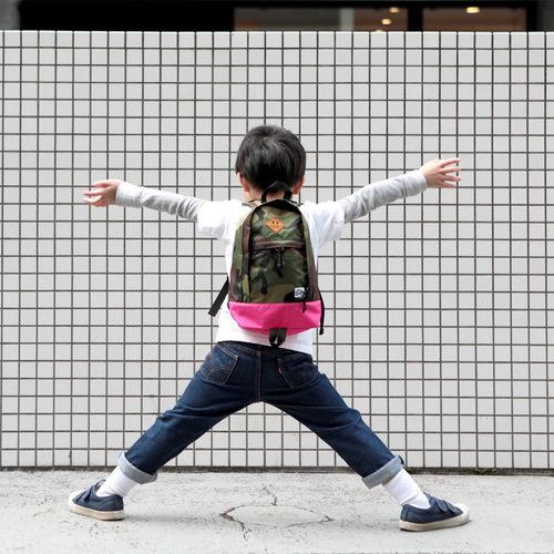 Drifter|防水抗撕裂兒童後背包 (迷彩+微甜粉)