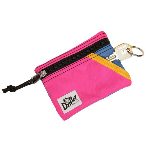 Drifter 尼龍防水鑰匙零錢卡包 (微甜粉+晴空藍)