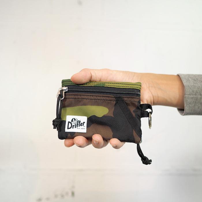 (複製)Drifter 尼龍鑰匙零錢包 (午夜藍+青草綠)