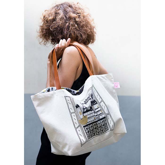 (複製)法國 La Cocotte Paris|巴黎小散步 輕便雙面手提袋 All over Paris / Chic Chick Ocre