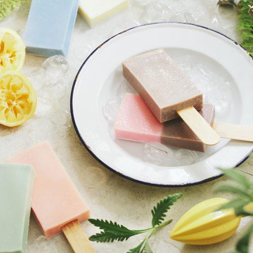 雪文洋行|沁透快樂冰棒皂-京都和果子(日本香柚)72%馬賽皂
