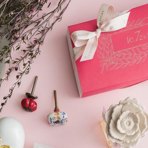 雪文洋行|玫瑰月光 三入香皂禮盒