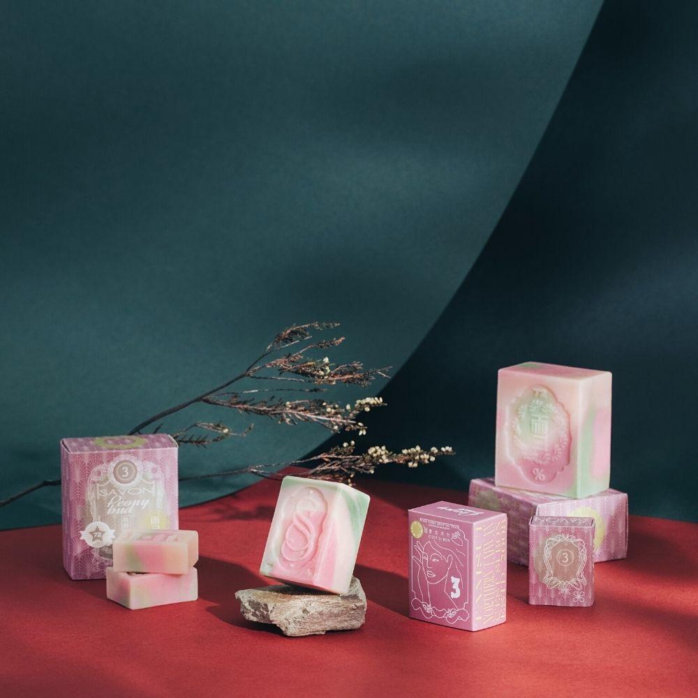 雪文洋行|潤澤香氛皂 No.003 牡丹香花蕾 (S)