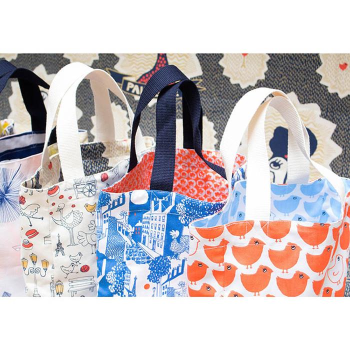 (複製)法國 La Cocotte Paris 巴黎小散步 輕便雙面手提袋 Minipoussin Rouge / Minipoussin Bleu