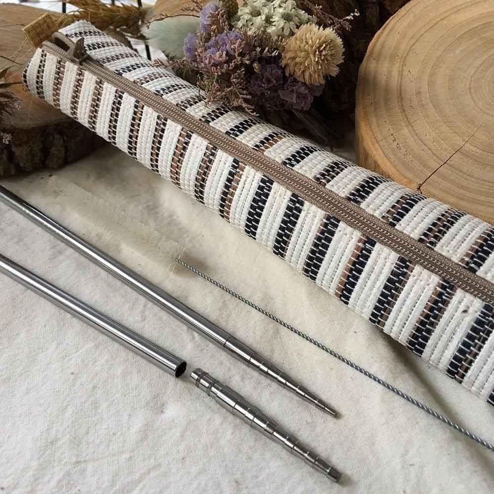 QC館|#316L不鏽鋼無縫吸管鈦筷頭組