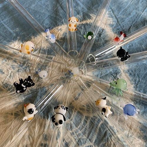 QC館|造型玻璃吸管安心戳C直 3支組