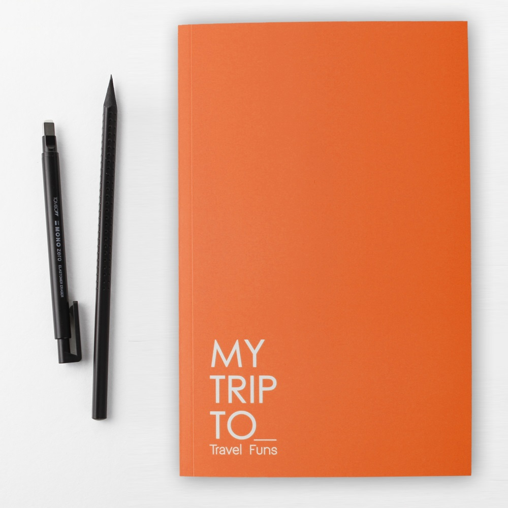 Dotfuns|travel funs 旅遊手札+書衣(橘)