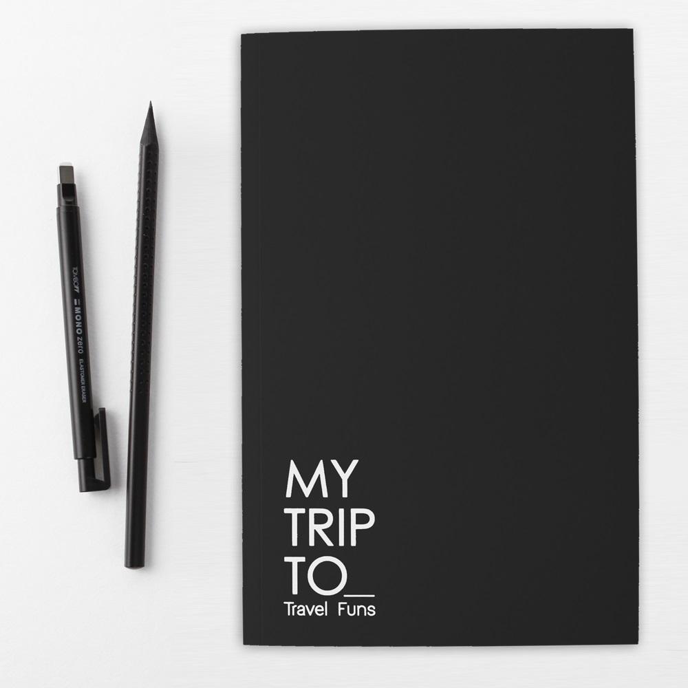 Dotfuns travel funs 旅遊手札+書衣(黃)