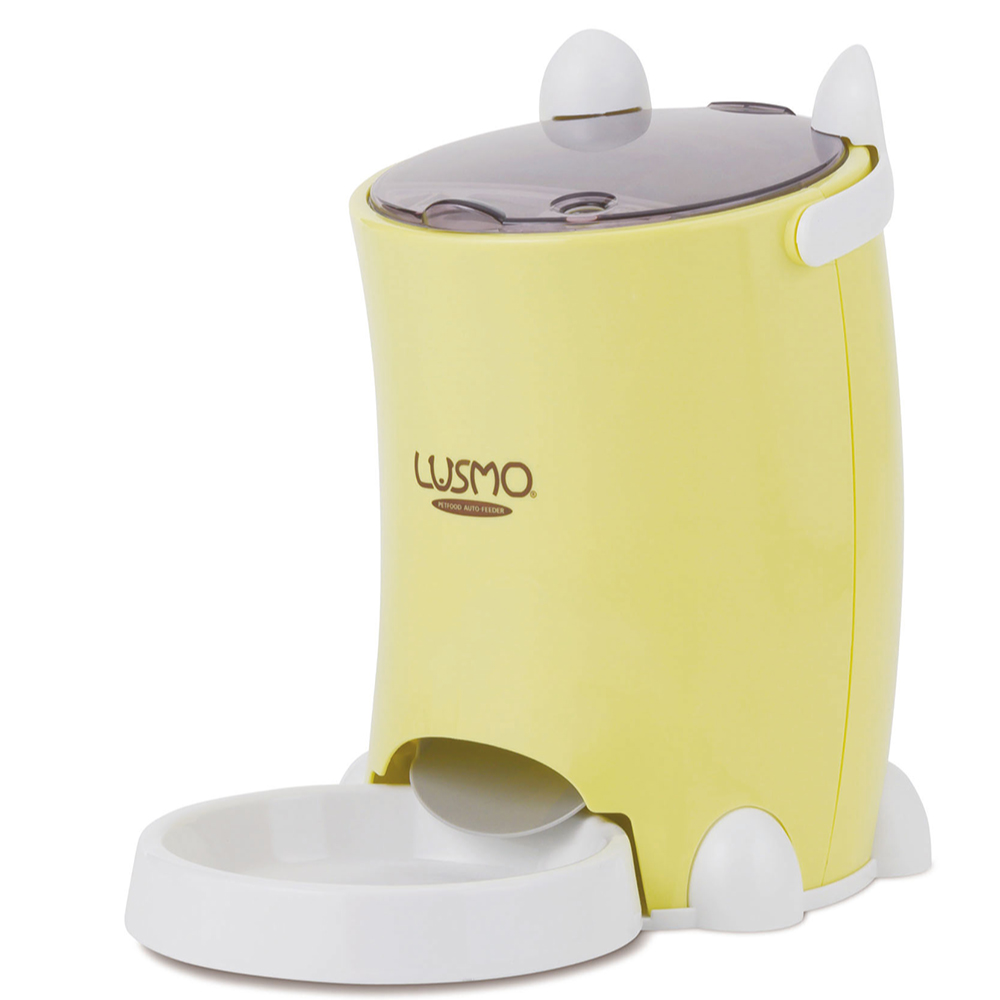 LUSMO|寵物定時自動餵食器(黃)