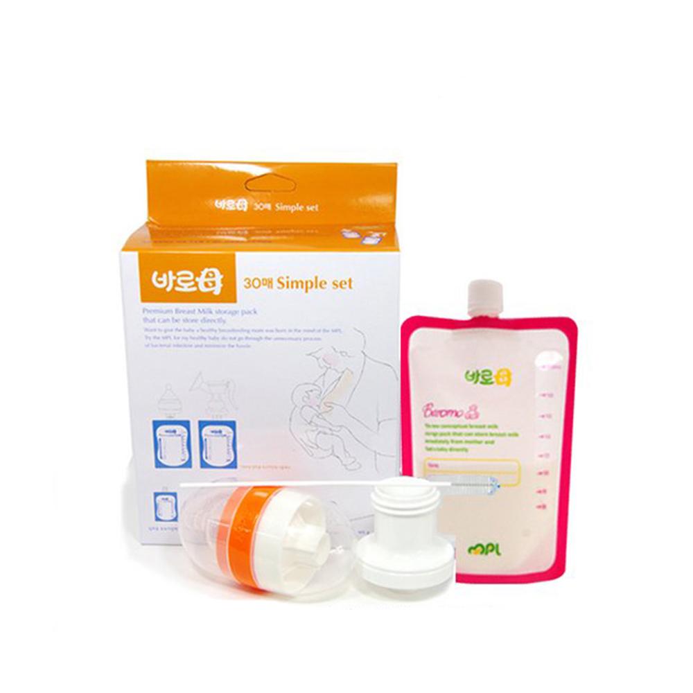 韓國MPL| BAROMO寶食樂母乳餵奶神器組 -入門組+母乳袋補充包 1+1超值優惠
