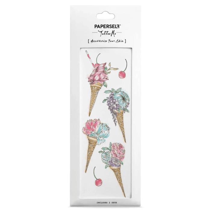 PAPERSELF|冰淇淋花Floral ice cream(金)