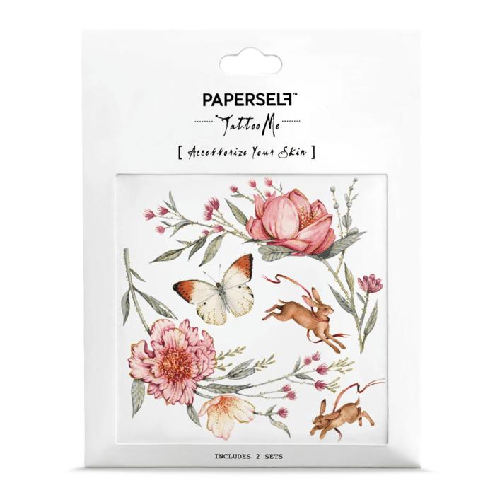 PAPERSELF 乾燥薔薇Rose & Rabbit(金)