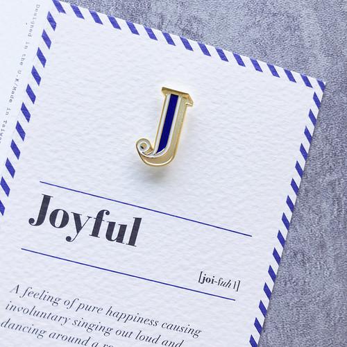 PAPERSELF 琺瑯徽章卡 - J / Joyful