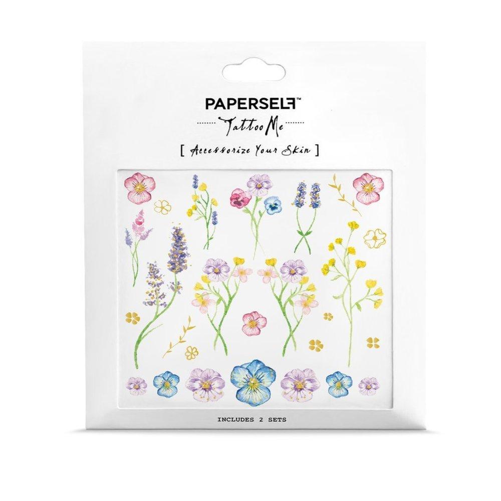PAPERSELF|植花室 刺青紋身貼紙 Little garden(金)