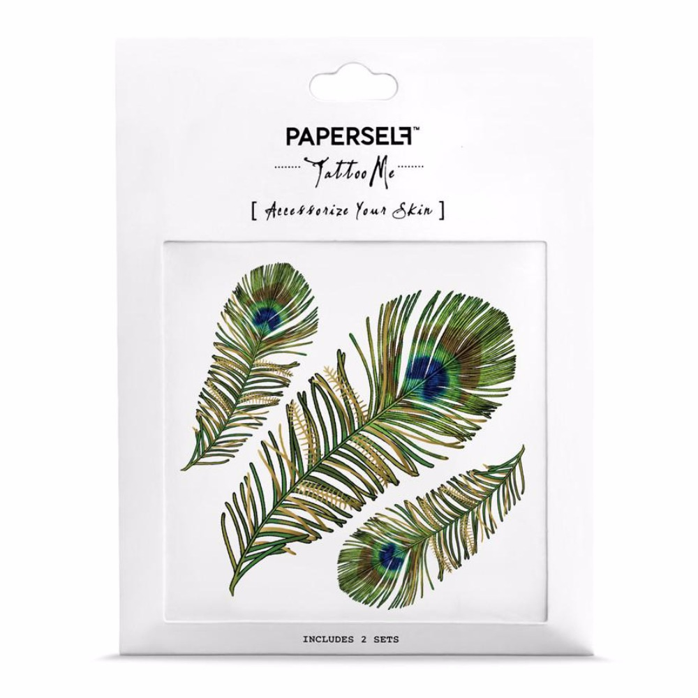 PAPERSELF 孔雀羽毛 Peacock Feather(金)