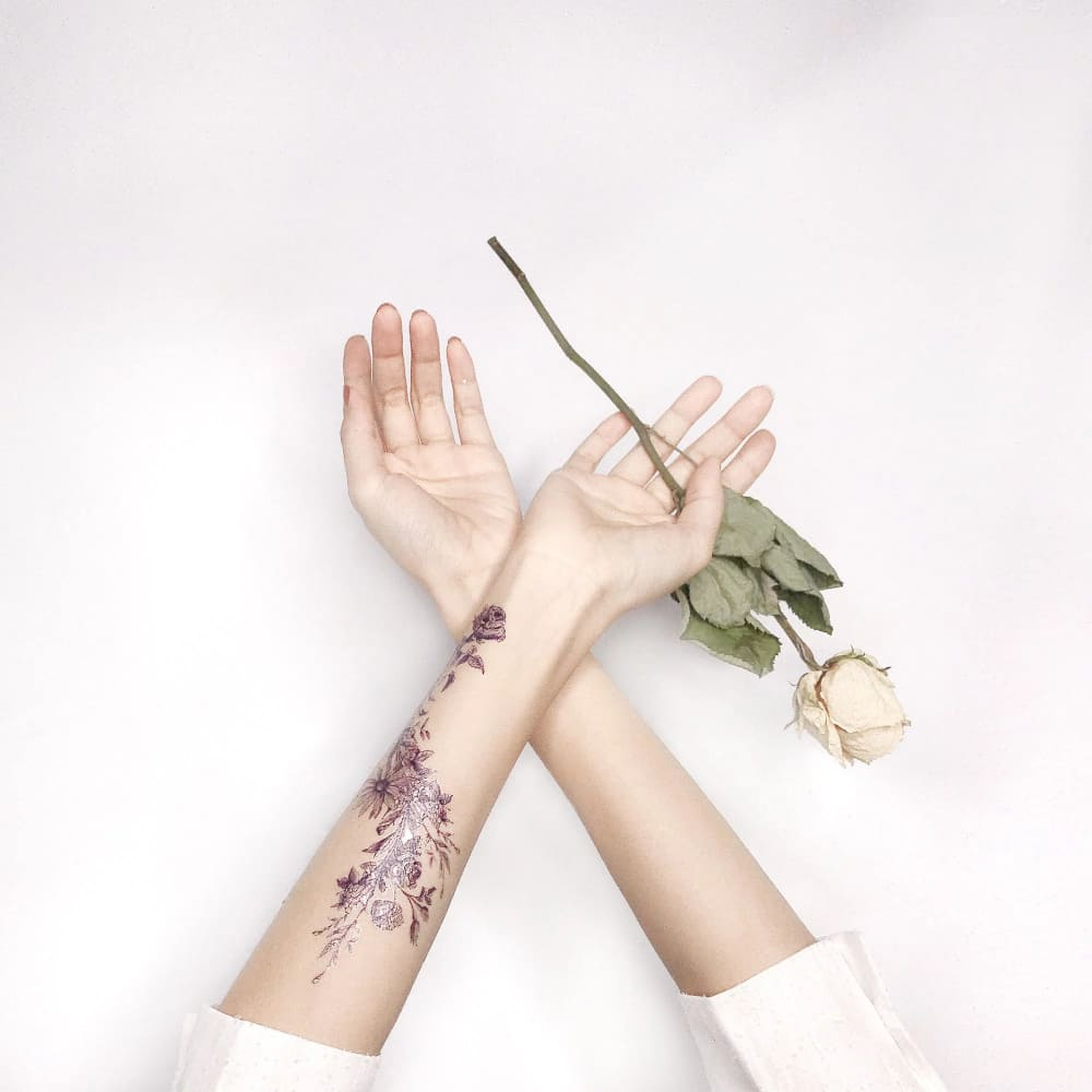 PAPERSELF|花圈手環-(金) Rosy and Daisy - Bracelet (gold)