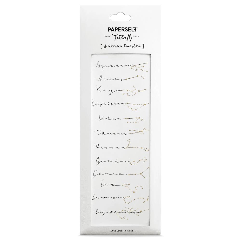 PAPERSELF 星座文字 Zodiac script(金)