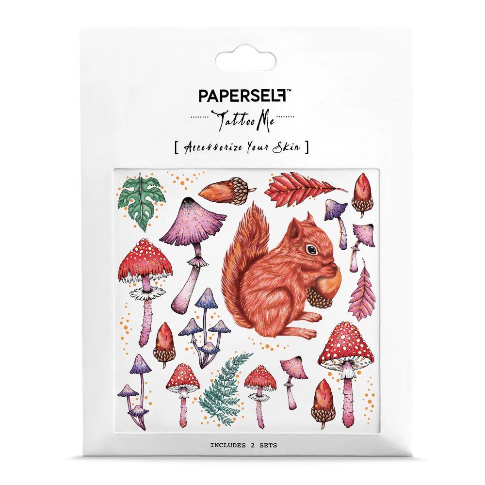 PAPERSELF 松鼠與蘑菇squirrel & mushroom(金)