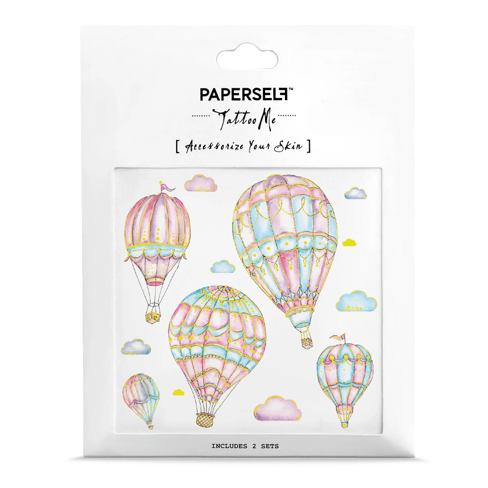 PAPERSELF 粉紅熱氣球 Air Balloons(金)