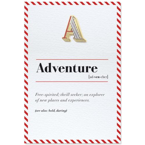 PAPERSELF|琺瑯徽章卡 - A / Adventure