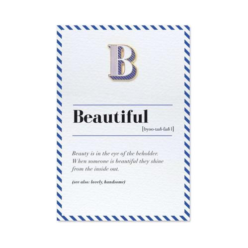 PAPERSELF|琺瑯徽章卡 - B / Beautiful