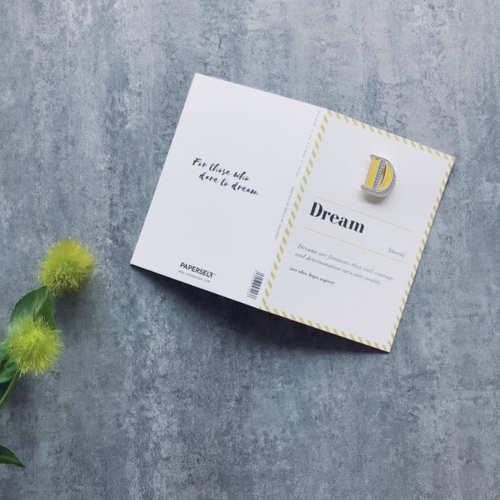 PAPERSELF|琺瑯徽章卡 - D / Dream