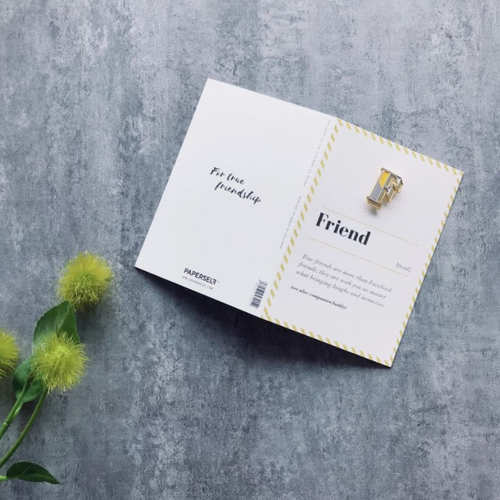 PAPERSELF|琺瑯徽章卡 - F / Friend
