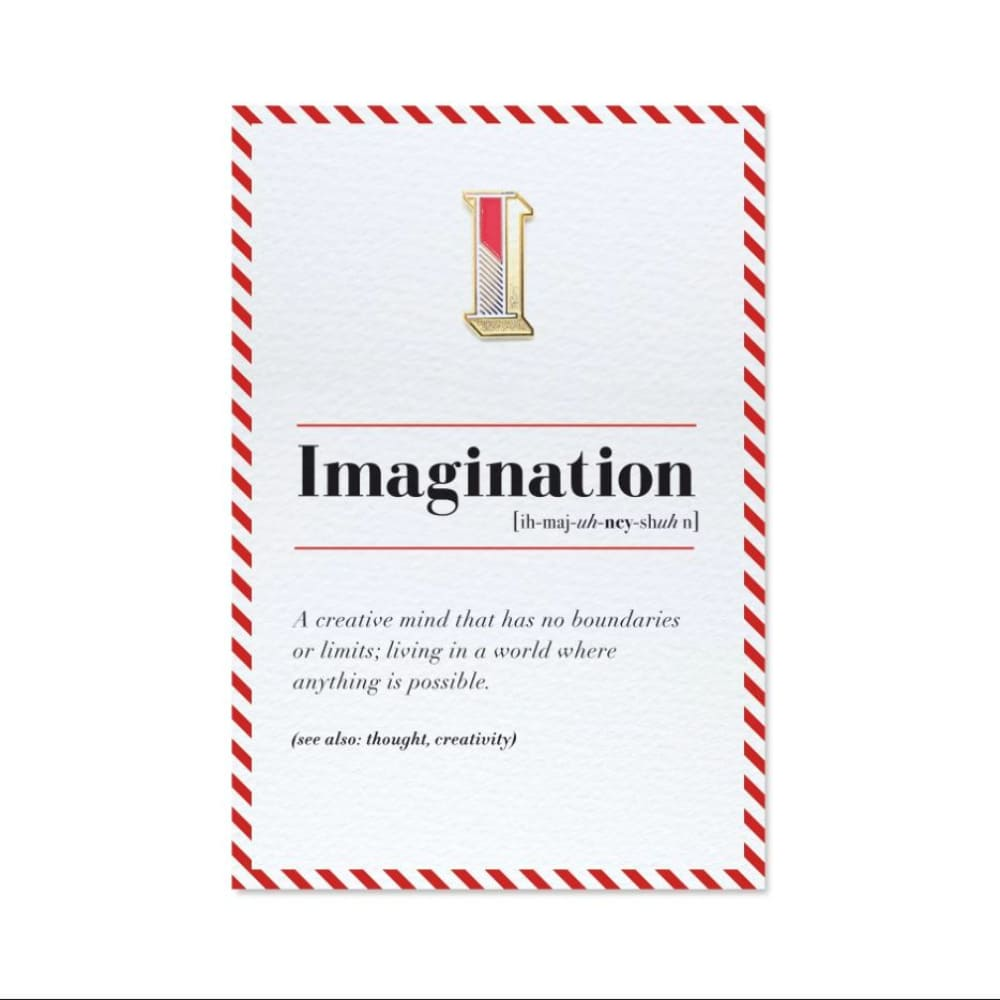 PAPERSELF|琺瑯徽章卡 - I / Imagination
