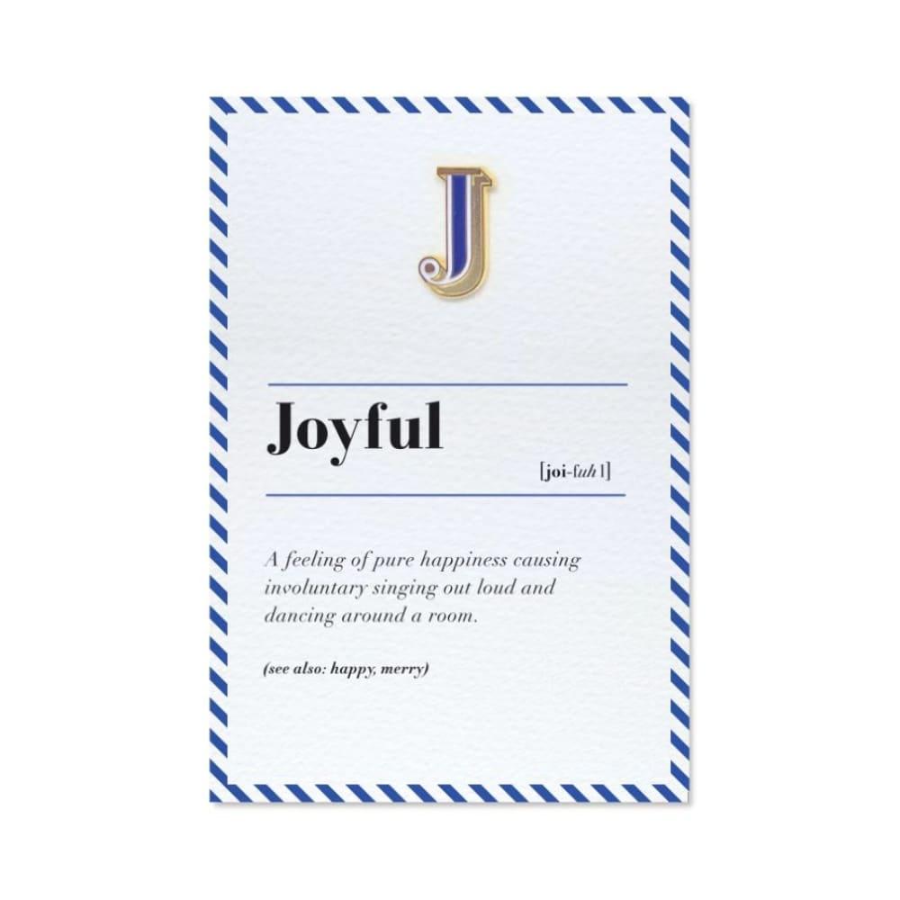 PAPERSELF|琺瑯徽章卡 - J / Joyful