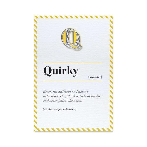 PAPERSELF|琺瑯徽章卡 - Q / Quirky