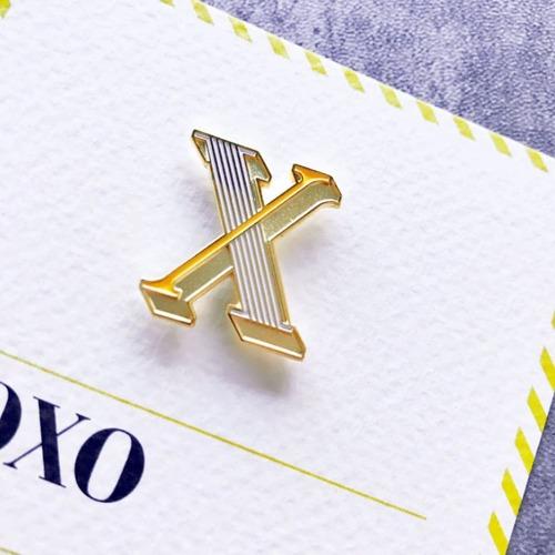 PAPERSELF|琺瑯徽章卡 - X / Xoxo
