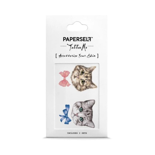 PAPERSELF|領結大頭貓Kittens with bows(金)