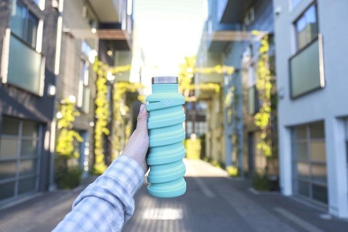 que Bottle|伸縮水瓶(600ml) - 薄荷藍