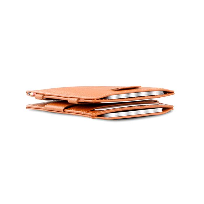 (複製)GARZINI|比利時翻轉皮夾 - 壓紋 - 抽取款 - 暗棕色