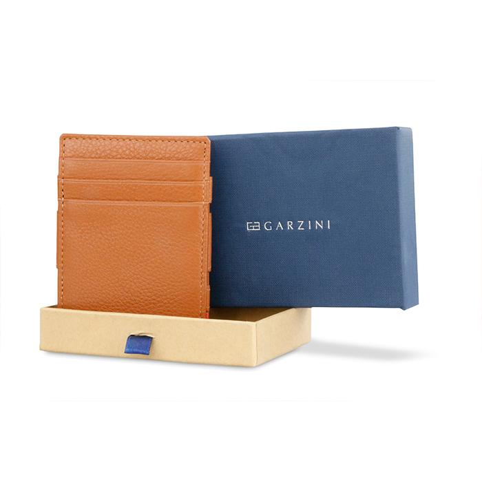 (複製)GARZINI|比利時翻轉皮夾 - 壓紋 - 零錢袋款 - 暗棕色