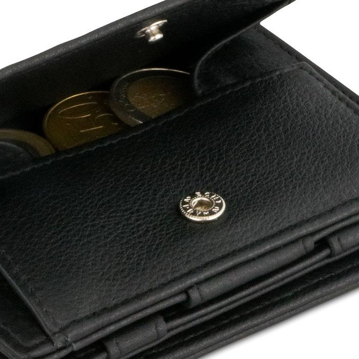 (複製)GARZINI|比利時翻轉皮夾 - 壓紋 - 零錢袋款 - 黑色