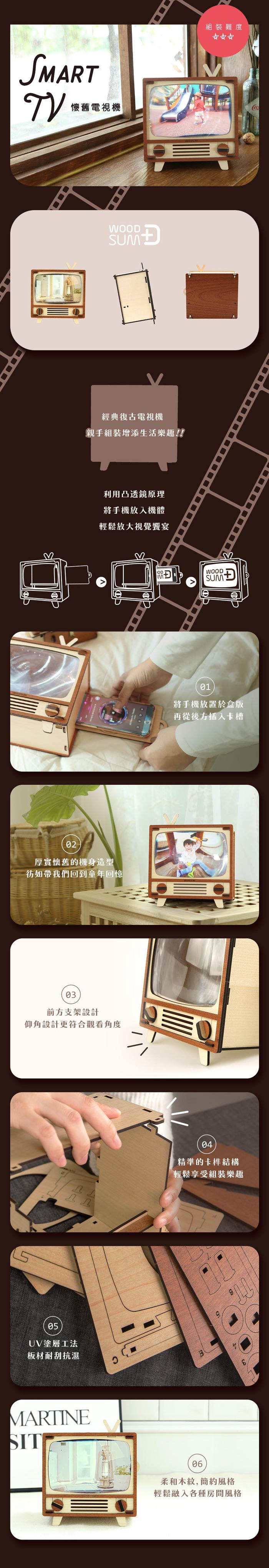 (複製)WOODSUM|輕手作。木製模型 - 復古收音機時鐘