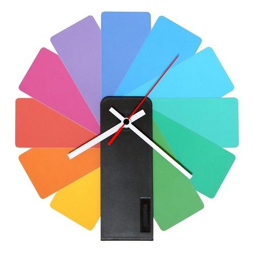 Kibardin |百變時鐘  彩色扇葉/黑色主體