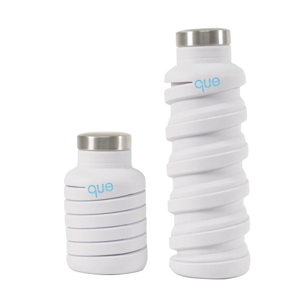 que Bottle|伸縮水瓶(600ml) - 香草白