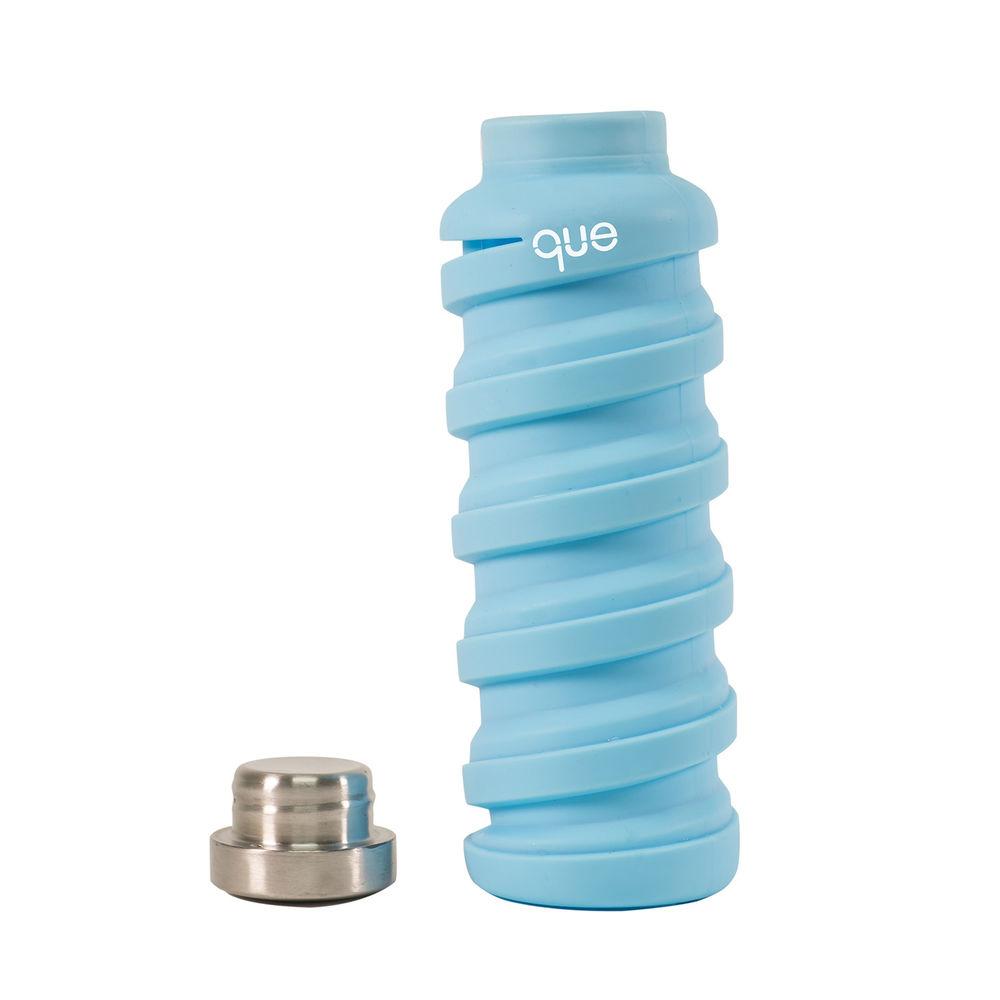 que Bottle 伸縮水瓶(600ml) - 湖水藍