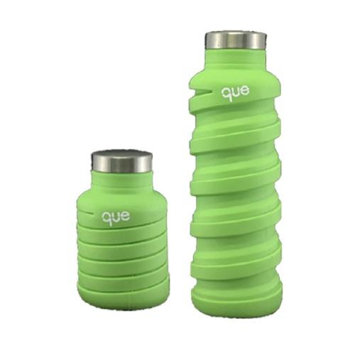 que Bottle 伸縮水瓶(355ml) - 螢光綠