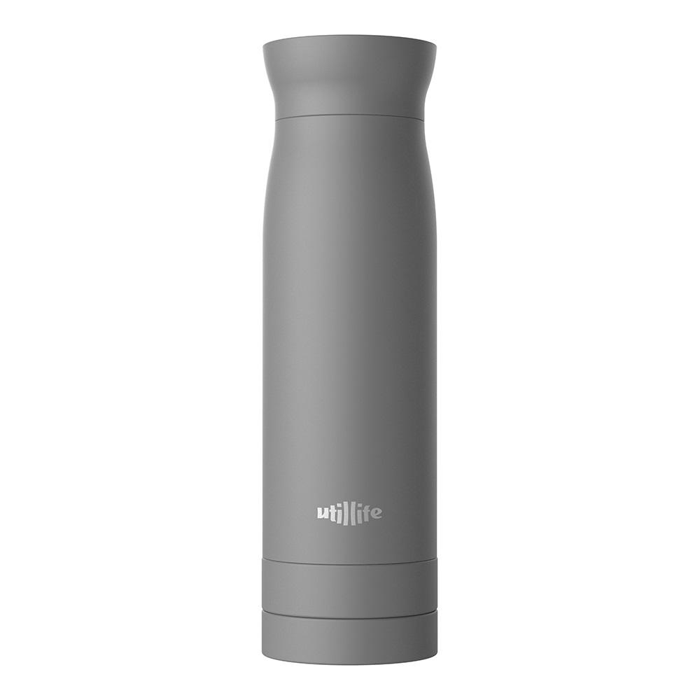 Utillife |輕盈收納304不銹鋼保溫瓶(420ml) - 灰色