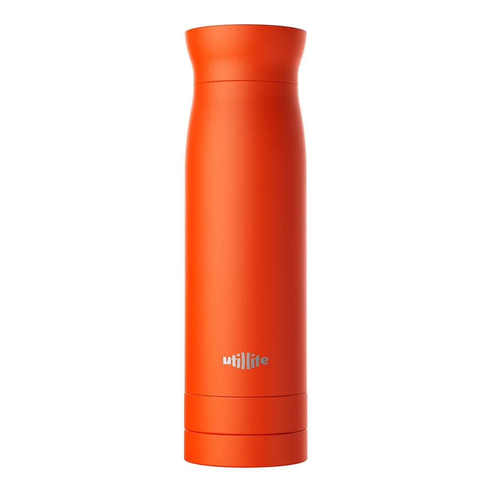 Utillife|輕盈收納304不銹鋼保溫瓶(420ml) - 橘色