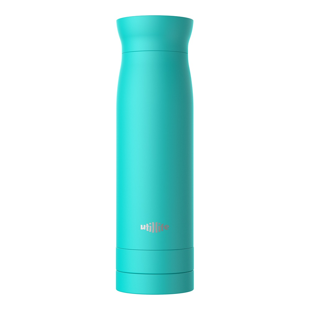 Utillife |輕盈收納304不銹鋼保溫瓶(420ml) - 粉藍色