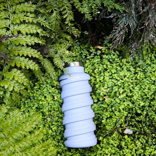 que Bottle 伸縮水瓶(600ml) - 極簡灰