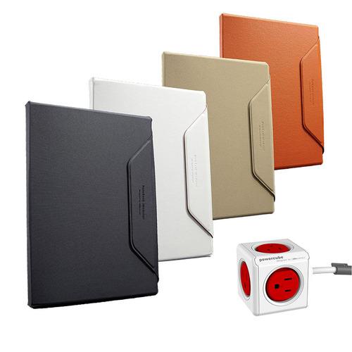 Allocacoc | NoteBook Modular A4 百搭筆記本 + PowerCube 延長線 - 紅色(線長1.5公尺)