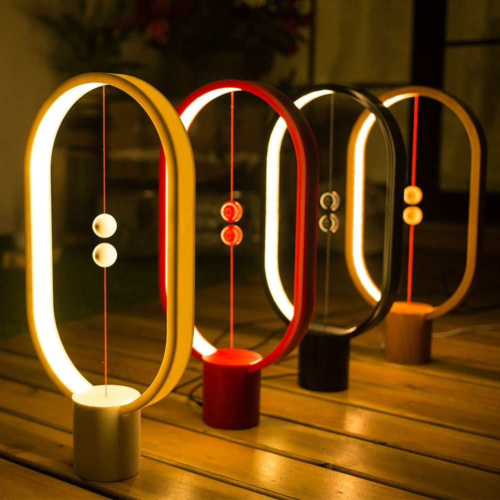 Allocacoc Heng Balance Lamp 衡 LED燈 - 紅色橢圓型