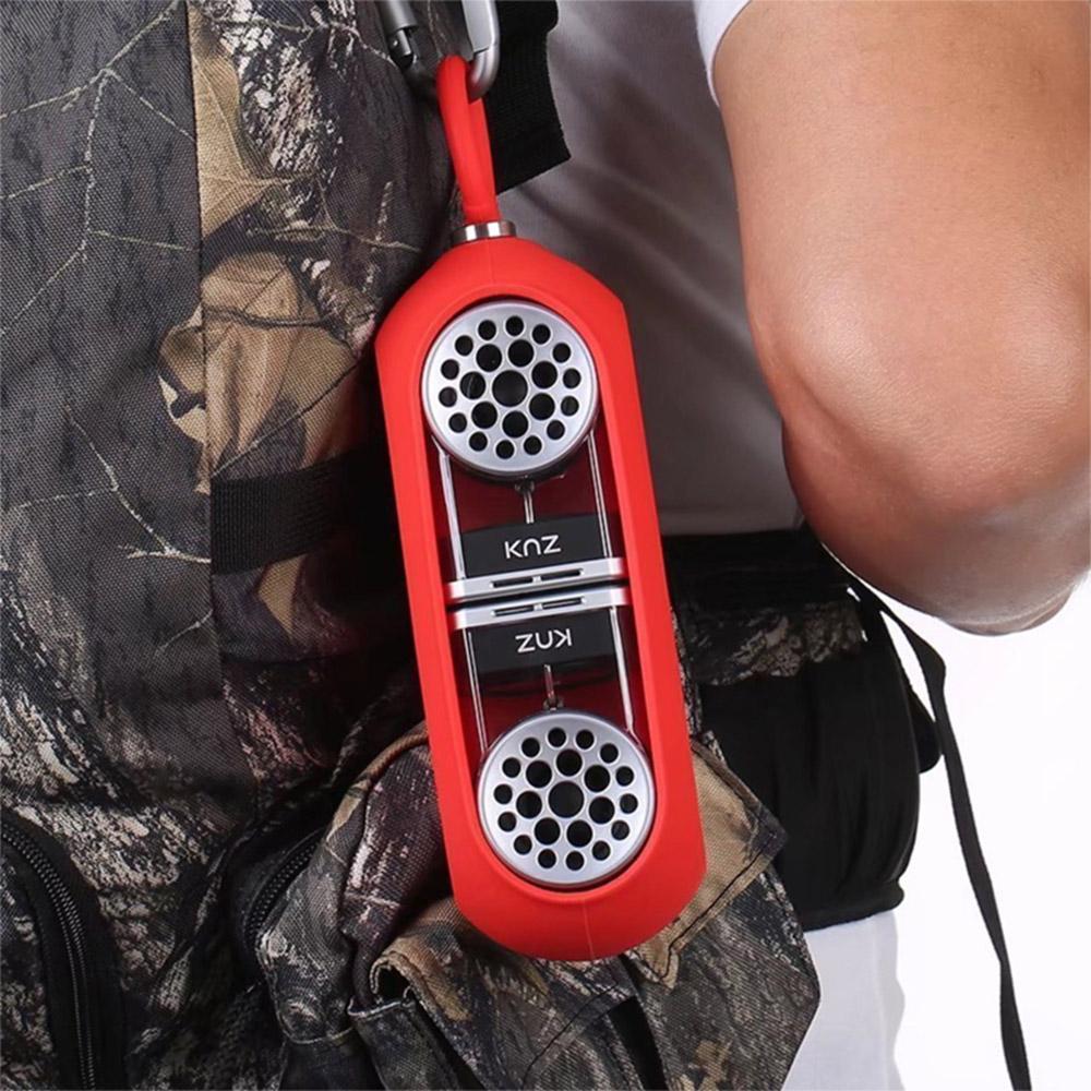 KNZ GoDuo無線磁吸音響 - 透明主體(紅色矽膠套)
