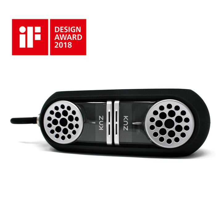 KNZ|GoDuo無線磁吸音響 - 透明主體(紅色矽膠套)