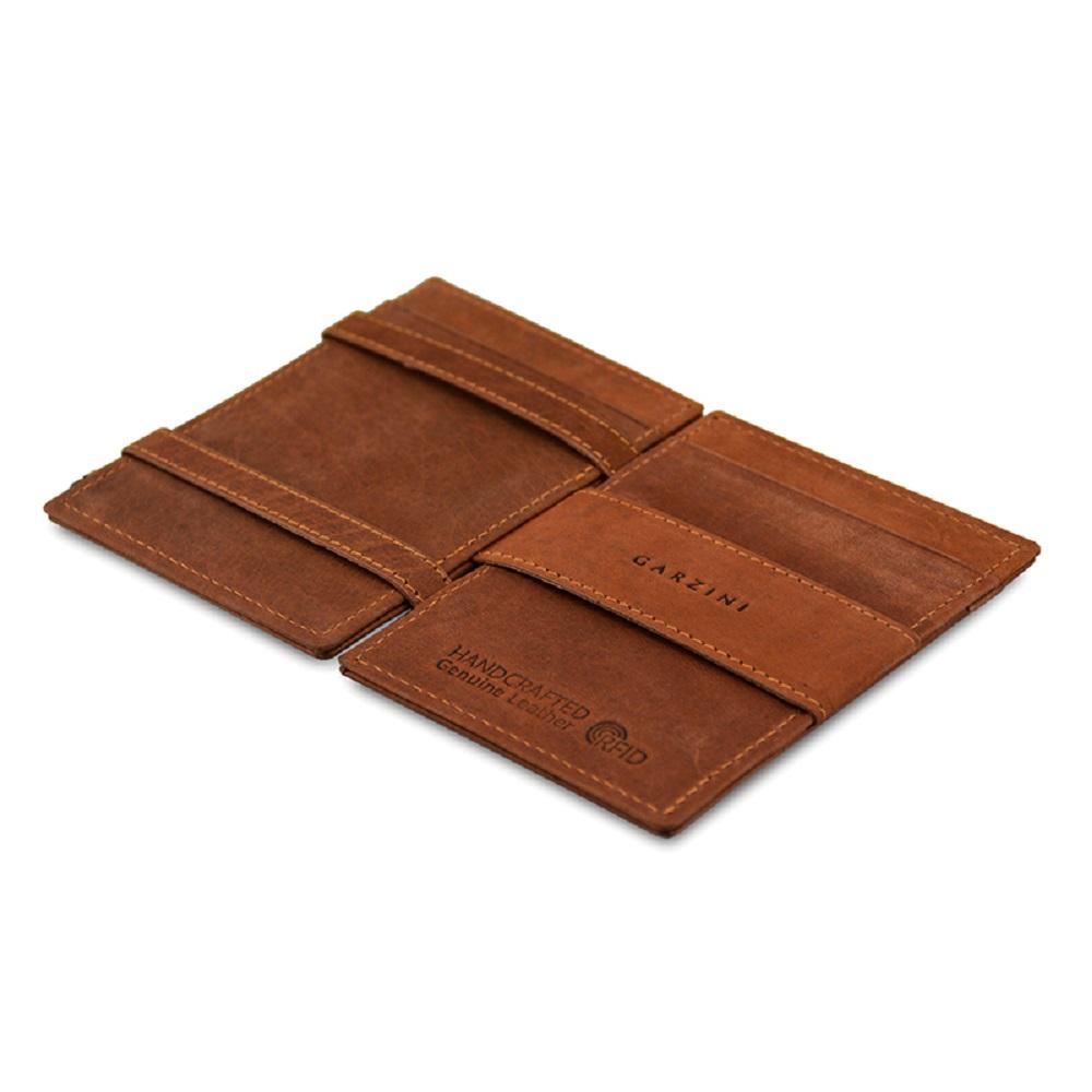 GARZINI|比利時翻轉皮夾 - 極簡款 - 深棕色